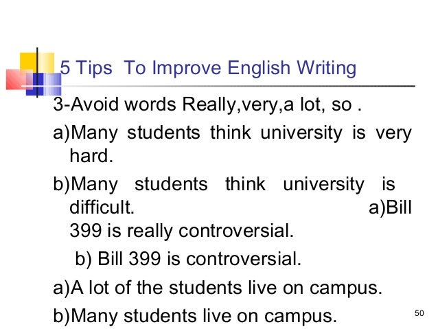 Help with english writing to improvement tips