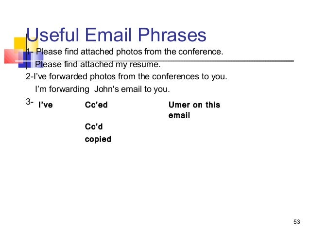 Please Find My Resume Attached To This Email. Please Find Enclosed .