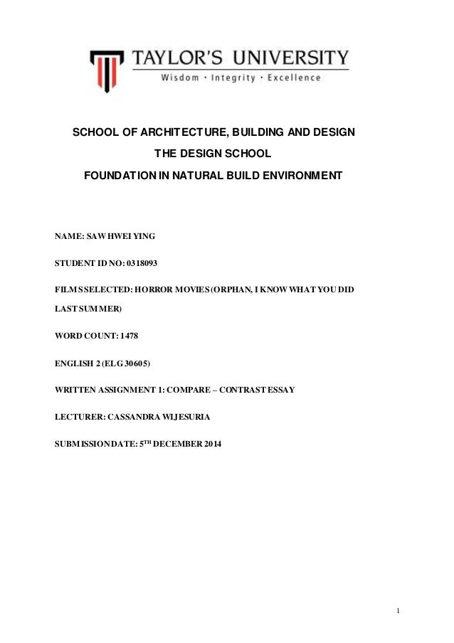 english compare contrast essay 1 school of architecture building and design the design school foundation in natural build environment 2 compare and contrast essay do you