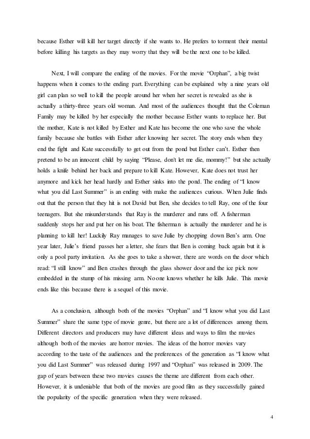 Orphan movie essay