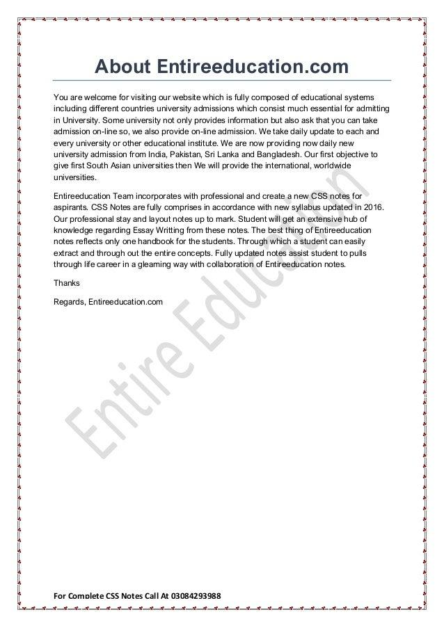 english essay css forum