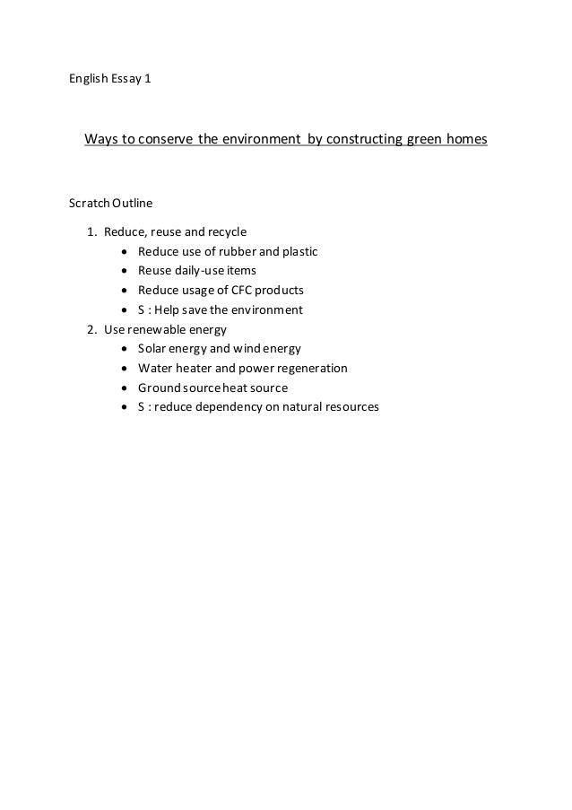 Environment emissions reduction essay