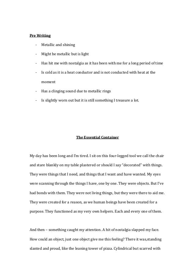 descriptive essay magical memories essay Autobiographical writing is an excellent way to work on your descriptive skills when you describe items or memories from your past, you are able to provide details that are often lacking in more purely imaginative exercises.