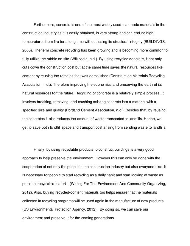 short essay on recycling of plastic