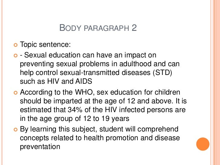 essays on sex education in public schools