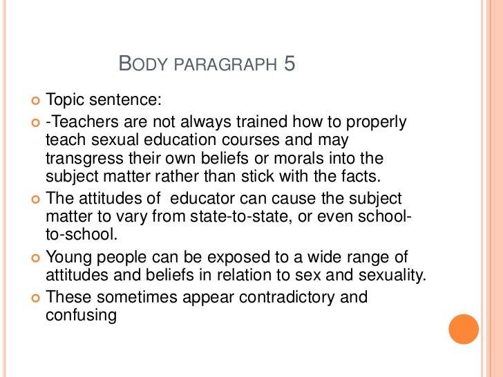 sex education in public schools cons
