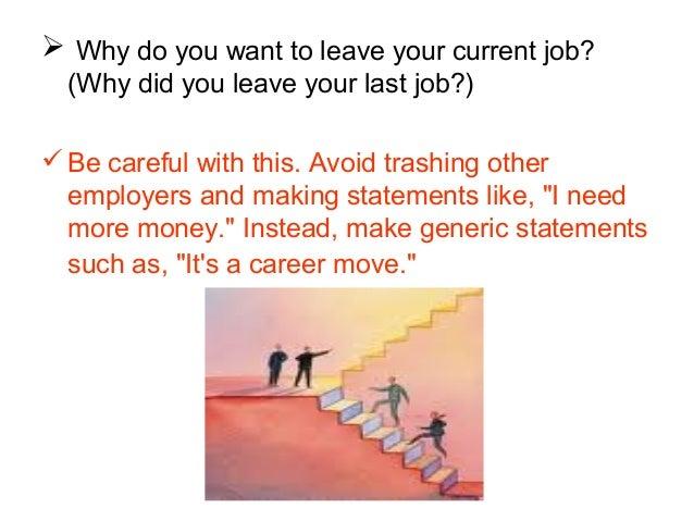 why do you like your job