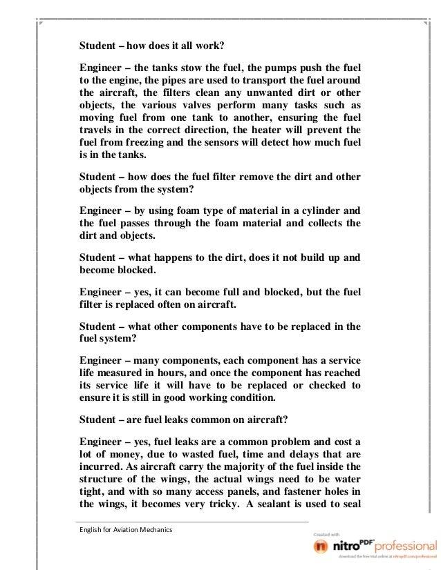 English for aviation mechanics