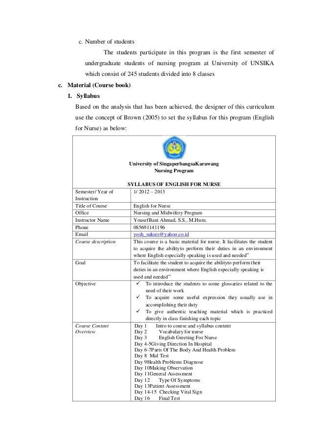 English for nurses (esp)