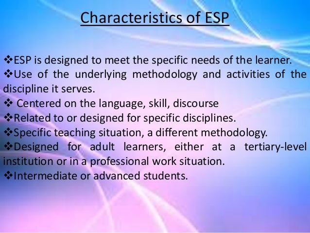 english specific purposes Academiaedu is a platform for academics to share research papers.