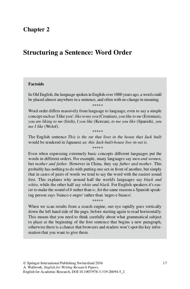 english research papers adrian wallwork English for writing research papers by adrian wallwork call number: e-book  isbn: 9783319260945 publication date: 2016-03-17.