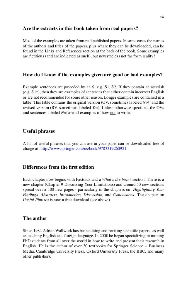 English For Writing Research Papers By Adrian Wallwork  Viii
