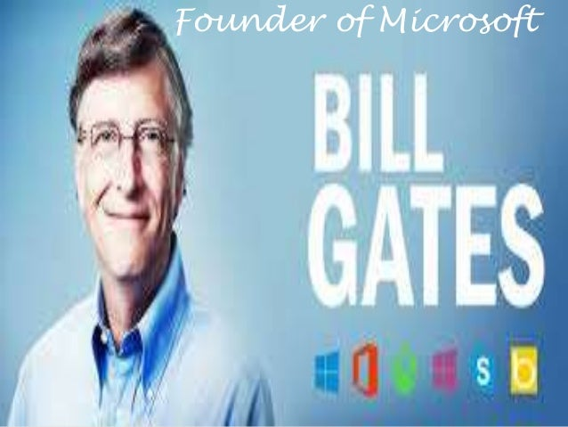 the life of billy gates and inception of microsoft Roger federer will team up with microsoft billionaire bill gates in silicon valley in a rematch of last year's match for africa just a few weeks after the 36-year-old federer reclaimed the no .