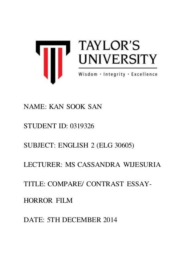 compare contrast essay compare contrast essay kan sook san student id 0319326 subject english 2 elg 30605
