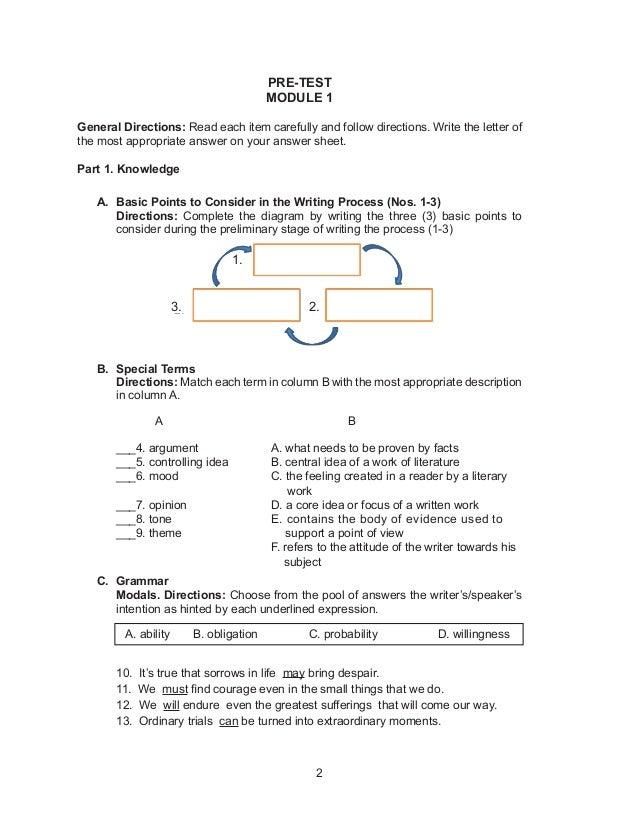 Grade 10 English Module (1st Quarter)