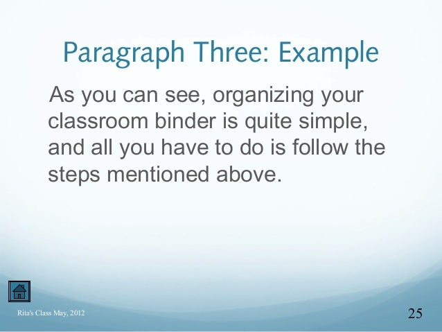 English grammar paragraph writing examples