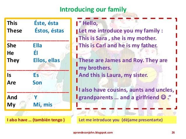 Que significa my family en ingles