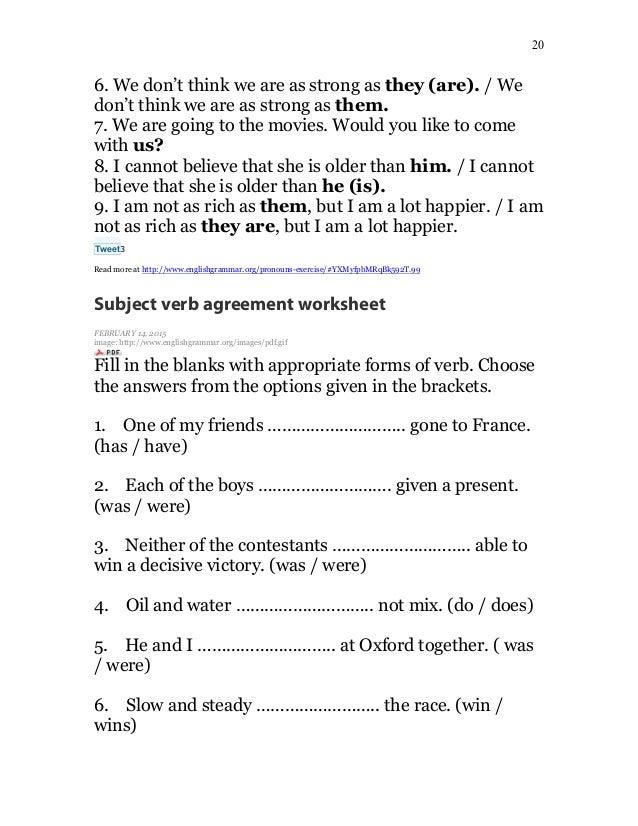 English Grammar Lessons (Part 1)