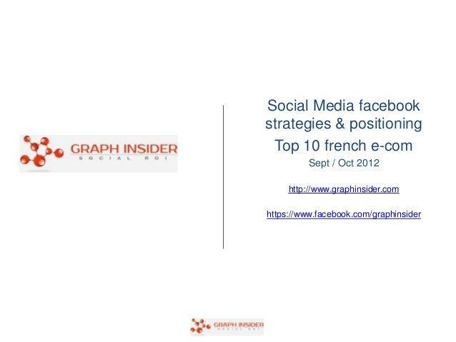 Social Media facebookstrategies & positioning Top 10 french e-com          Sept / Oct 2012     http://www.graphinsider.com...
