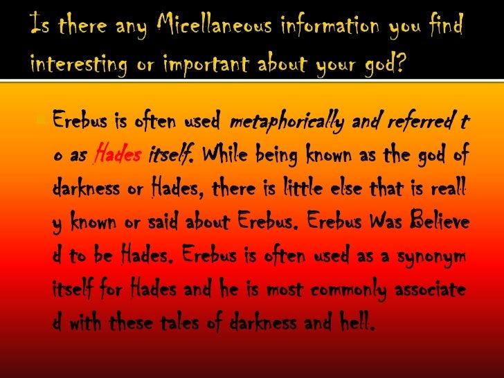 Erebus Greek Mythology