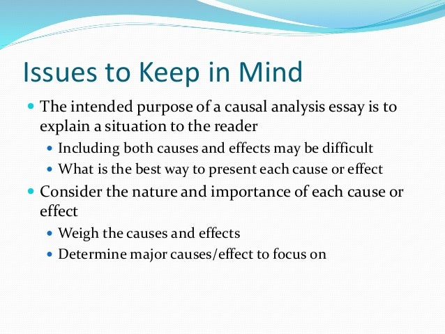 cause and effect essay media