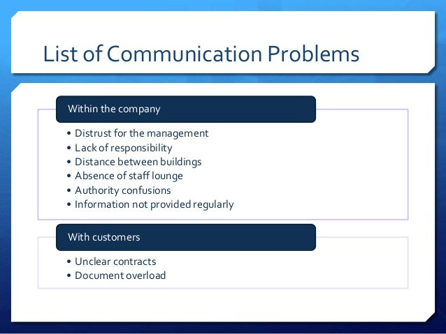communication problems in the workplace case study Study: regina witt, brazil steve patterson,  ipe six case studiesindd 3 03/07/2013 08:33 4 1  enter the workplace as members of a cp team.