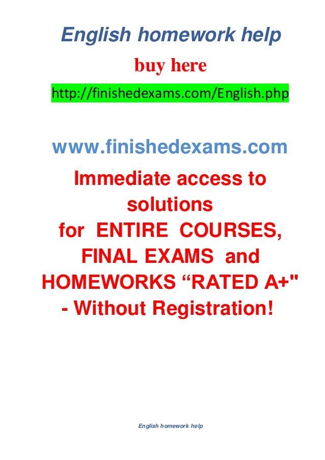 english homework help websites