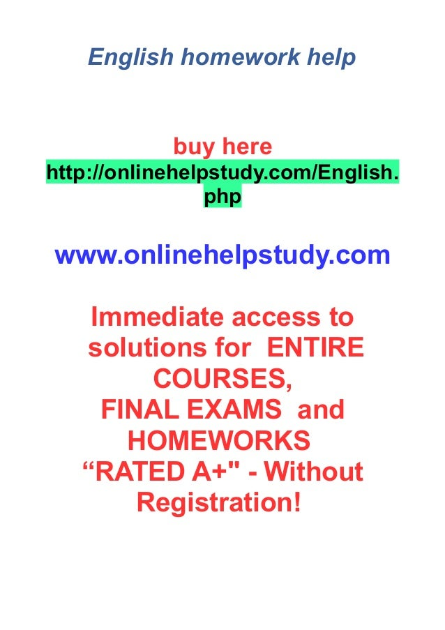 english homework help online