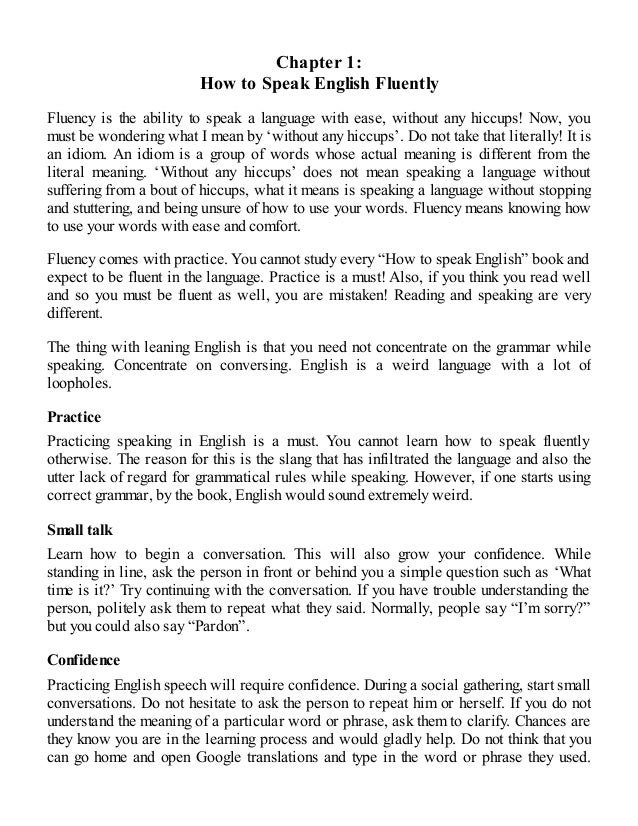 English how to speak english fluently in 1 week