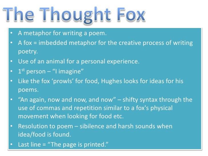 Animal Imagery In The Thought Fox Matatarantula