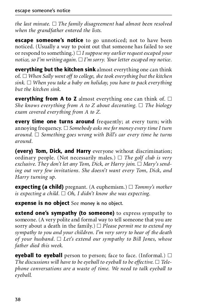 Everything But The Kitchen Sink Idiom english idioms dictionary in pdf download for free