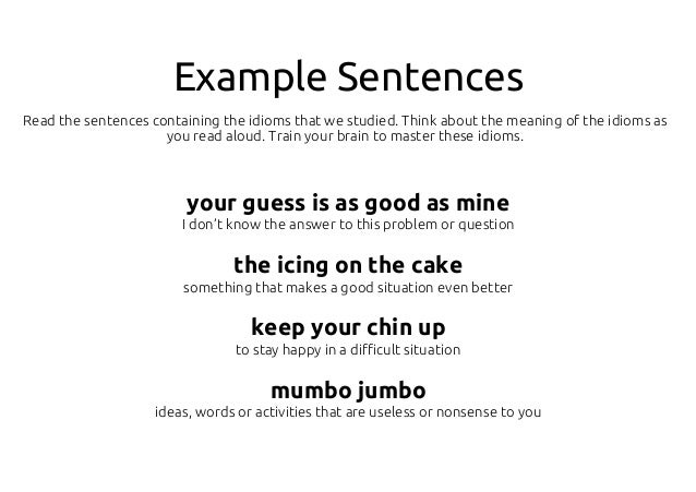 Set up example sentence