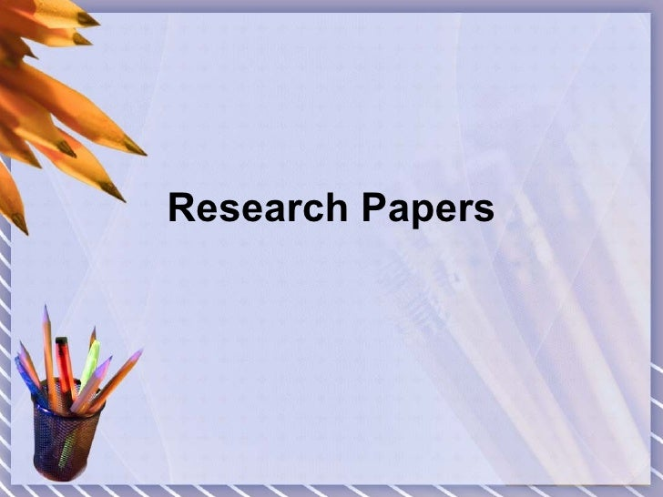 Research papers for english