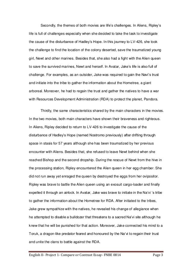 english ii compare or contrast essay 3