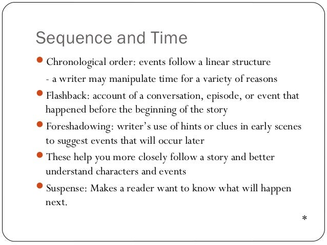 Chronological order literature review
