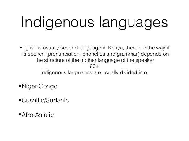 English in kenya