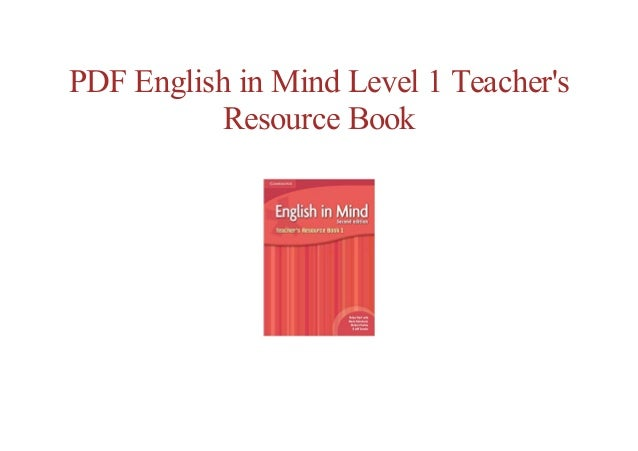 Full Book English In Mind Level 1 Teachers Resource Book