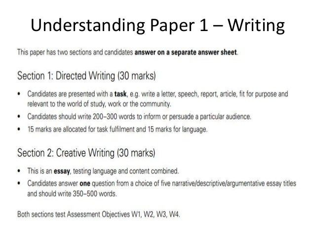 english language essentials k understanding paper 1 writing
