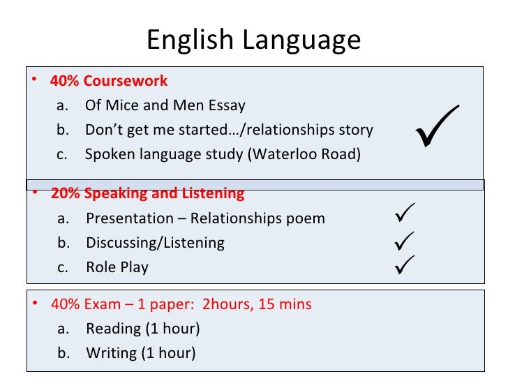 How to write good english coursework