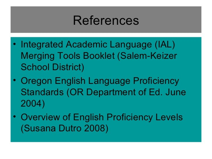 ell proficiency standards Ell stage iii: grades 3‐5 listening and speaking page 1 of 12 proficiency y level l descriptors.