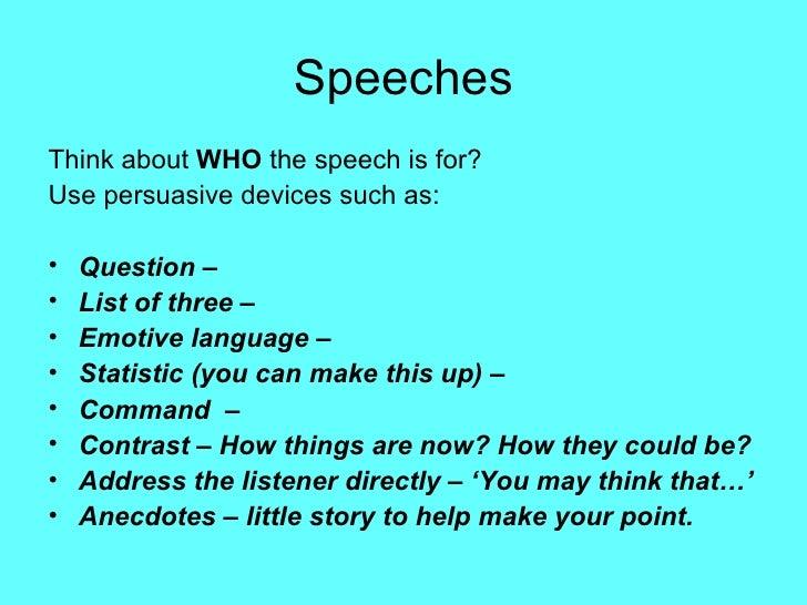 how to write a speech english language