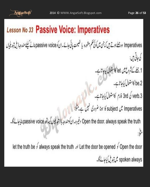 Complete English Learning Course in Urdu From AngarSoft