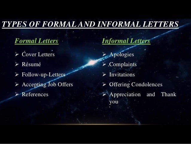 letterss and its types  letter samples   applications