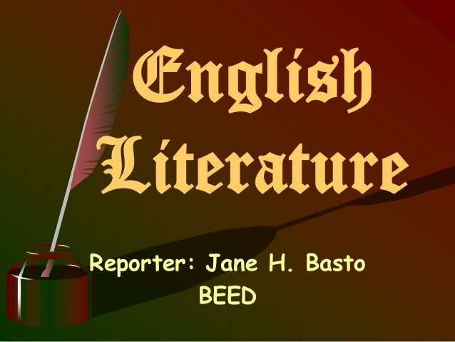 literature of english