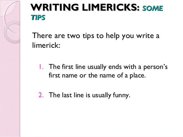 help writing a limerick poem