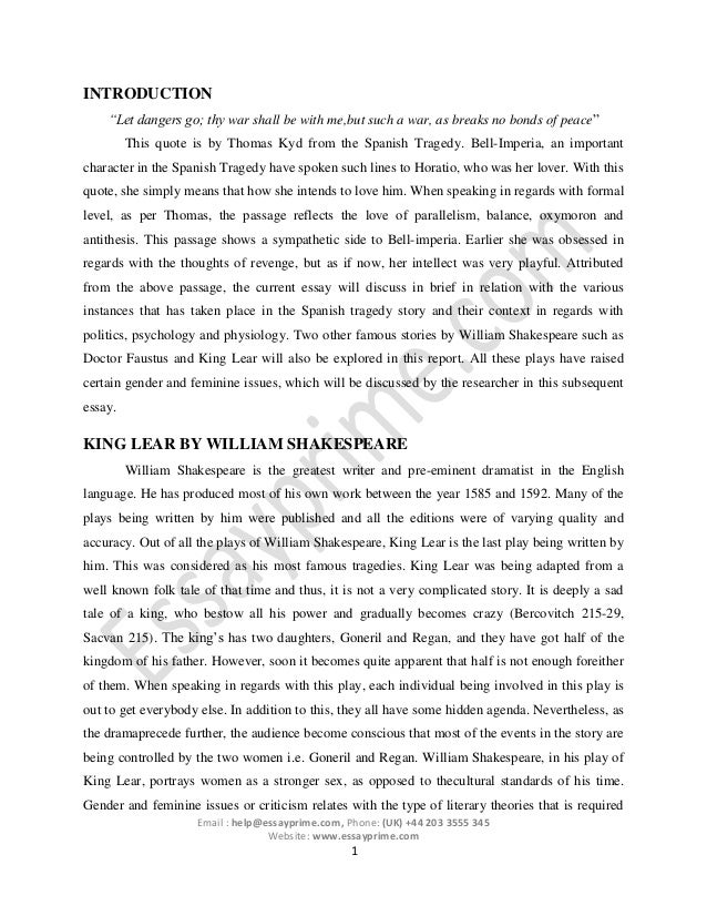 Literature essay sample