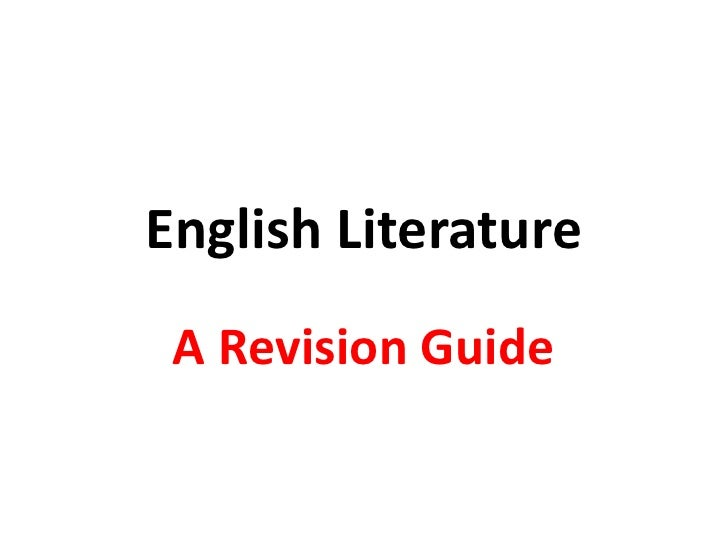 English Literature Exam Prep Ocr