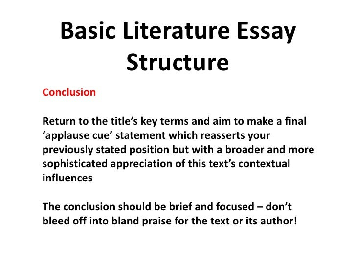 English Literature Exam Prep Ocr   Basic Literature Essay Structurebr