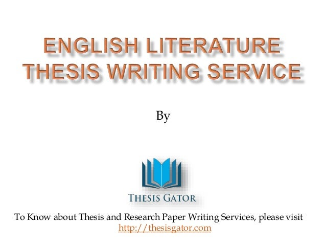 Thesis writer service