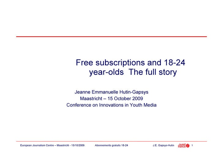 Free subscriptions and 18-24                                                year-olds The full story                      ...